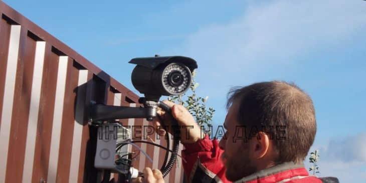Установка видеонаблюдения в частном доме фото