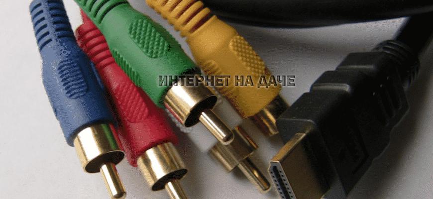Как подключить ресивер к телевизору через тюльпан или HDMI фото